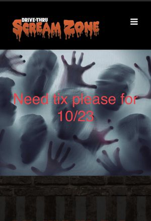 Scream zone tickets for Sale in San Diego, CA