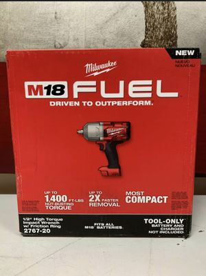 Milwaukee M18 FUEL 18-Volt Lithium-Ion Brushless Cordless 1/2 in. Impact Wrench with Friction Ring. Tool-Only. for Sale in Chicago, IL
