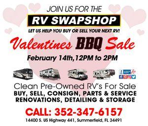 Valentine's BBQ Sale at RV Swap Shop for Sale in Summerfield, FL