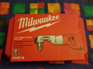 New Milwaukee 7 Amp Corded 1/2 in. Corded Right-Angle Drill Kit with Hard Case for Sale in Renton, WA