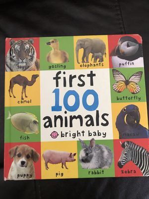 Bright Baby First 100 Animals board book for Sale in Rustburg, VA