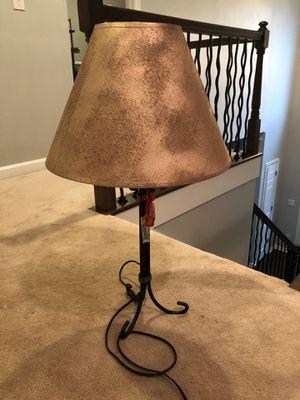 Black lamp, gold shade for Sale in Marietta, GA