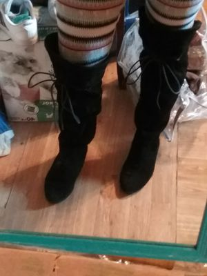 Sz 6 black thigh high boots for Sale in Gibsonton, FL