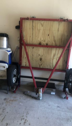 4by8 utility trailer with a bbq smoker and pit need to finish wedding for Sale in Humble, TX
