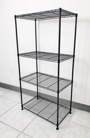 """New $35 Small Metal 4-Shelf Shelving Storage Unit Wire Organizer Rack Adjustable Height 24x14x48"""" for Sale in South El Monte, CA"""