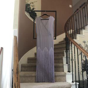 Purple Fringe Maxi Dress- ASOS size 10 for Sale in Cypress, TX