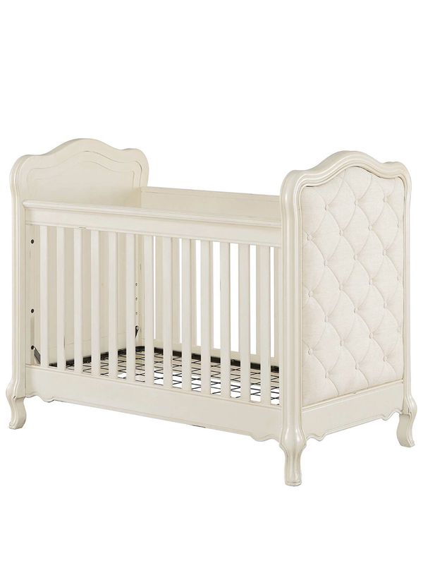 White Crib w Mattress & Removable Changing table