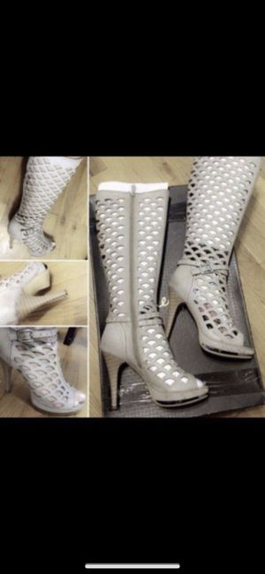 Beautiful Woman Open Toe Gladiator Boots for Sale in Union City, NJ