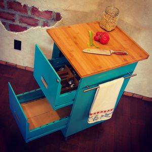 Upcycled Filing Cabinet Kitchen Island for Sale in San Jose, CA