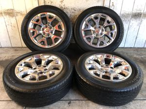 "20"" GMC Sierra Yukon Wheels Rims Tires 275/55/20 for Sale in Santa Ana, CA"