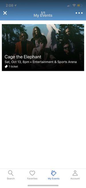 CAGE THE ELEPHANT FLOOR TICKET for Sale in Nokesville, VA
