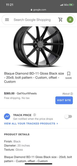 Brand new blaque diamond 20 inch rims black for Sale in Las Vegas, NV
