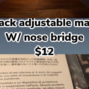 Face Mask - w/ Nose Bridge for Sale in Norco, CA