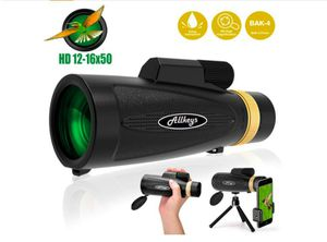 Monocular Telescope for Adults,12X50 High Power HD Monocular with Smartphone Holder Tripod, Zoom BAK4 Prism FMC Waterproof Monoscope for for Sale in Rancho Cucamonga, CA