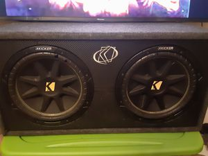 2 10inch Kicker subs for Sale in Peoria, IL