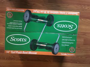 scotts 14 in. 5-blade reel mower for Sale in Portland, OR