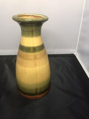 Green Bulgarian Vase with Crackle Glaze for Sale in Wylie, TX