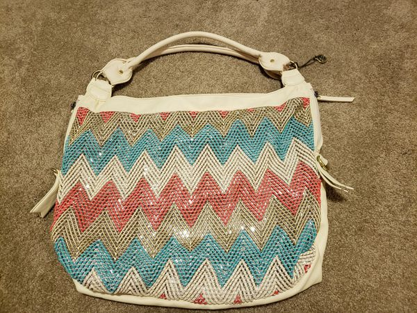 Big Buddha Chevron Sequin Handbag