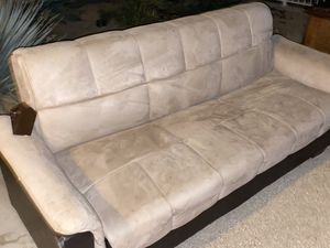 Curb alert FREE Futon 3 person sofa becomes QUEEN bed for Sale in Los Angeles, CA