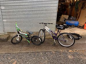 Magna threat team youth bmx bike, and pacific voyager mountain bike for Sale in Colton, OR