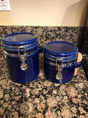 Sugar and flour kitchen storage containers for Sale in Bostonia, CA