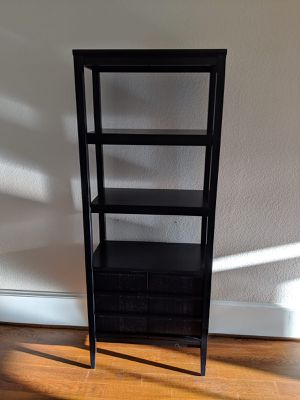 Crate & Barrel Bookcase/shelf, gently used, wood and birch veneer frame, purchased for $600 for Sale in Winterville, NC