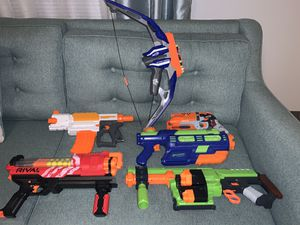 Nerf guns and bow for Sale in FL, US
