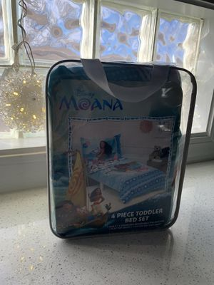 NEW Moana 4 Piece Toddler bed set for Sale in Los Lunas, NM