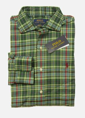 Polo Ralph Lauren Men's Green Plaid Classic Fit Performance Flannel L/S Shirt $30 Local Pick Up! for Sale in Forest Heights, MD