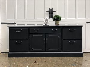 Beautiful black buffet,credenza or sideboard for Sale in Battle Ground, WA