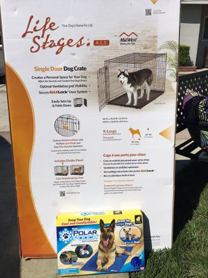 XL dog crate including cooling mat!! for Sale in Los Alamitos, CA