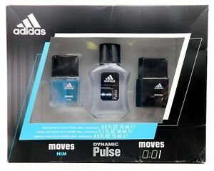 NEW Adidas 3 piece Cologne Gift Set for Men / Dynamic Pulse / Moves for Sale in Queens,  NY