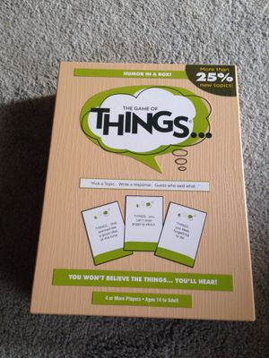The game of things card board game for Sale in Chesapeake, VA