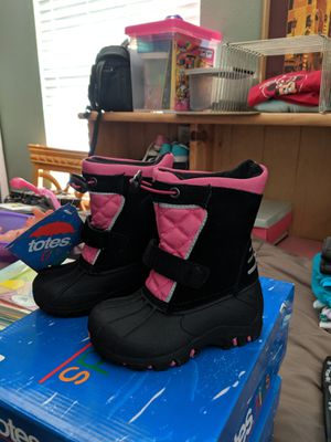 Totes Kids Girls Snow Boots Size 6 for Sale in Downey, CA