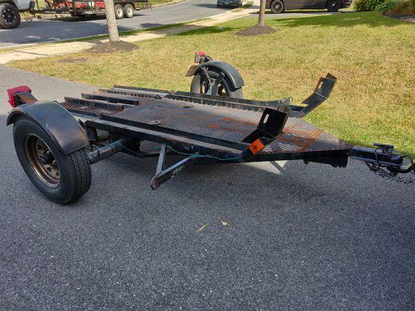 Kendon dual folding/standup motorcycle trailer.