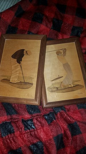 Wooden Framed Golf Portrait Set for Sale in Fairfax, VA