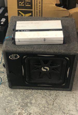 12 inch speaker L7 in a jL audio amp 375 obo for Sale in Camp Springs, MD