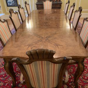 Vintage Walnut Dining Table With 10 Chairs for Sale in Chicago, IL