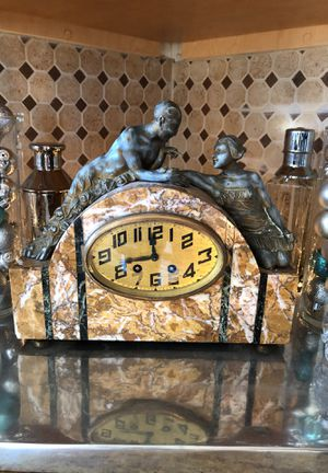 Antique French Art Deco Clock Attributed to Limousin for Sale in West Los Angeles, CA