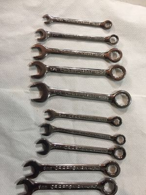 Mini Wrench Set. Chrome. Craftsman. 10pcs. for Sale in Culver City, CA