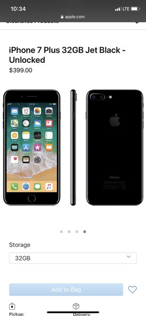 Black iPhone 7 Plus for Sale in Horseheads, NY