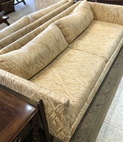 Retro Pair Upholstered And Brass Couches for Sale in Frederick,  MD