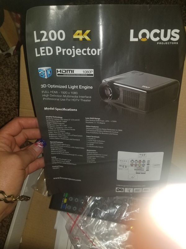 Locus projector with screen