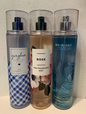 Bath and body works fine fragrance mist new all 3 for $15 for Sale in Anaheim, CA