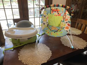 Two baby seat, swing bright stars and Summer seat for Sale in Flower Mound, TX