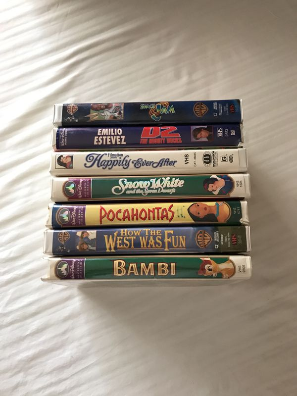 Disney and Warner Brothers vhs movies