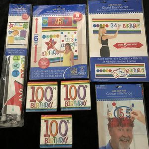 100th birthday party supplies for Sale in Ontario, CA