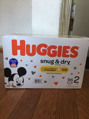 HUGGIES SIZE 2 96 pañales for Sale in Compton, CA