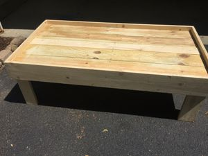 Coffee table ready for stain for Sale in US