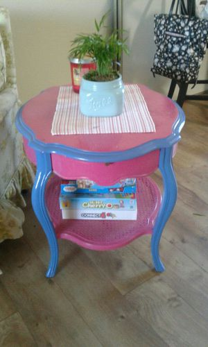 Pink and Blue Side Table for Sale in US
